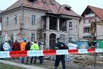 Havárie domu v rekonstrukci na Sokolské ulici ve Zlíně.