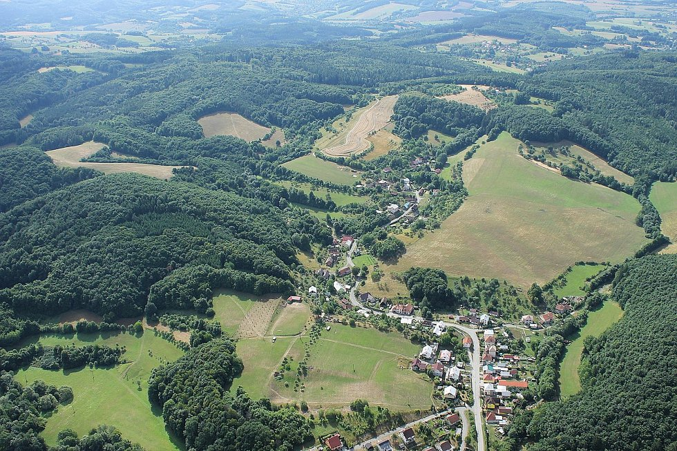 Obec Dešná na Zlínsku.