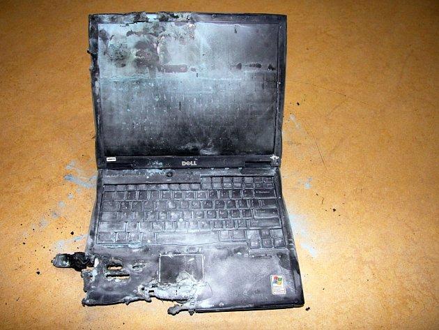 Požár notebooku na ubytovně v centru Zlína
