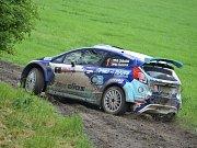 Roman Odložilík na jedné z blátivých pasáží Rally Vyškov 2016