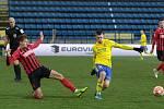 Fotbalisté Zlína (ve žlutých dresech) zakončili dlouhou podzimní části sobotním domácím zápasem s Opavou.