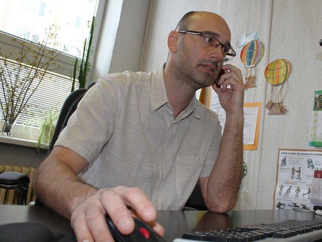 Zlínské občanské sdružení Handicap (?) Zlín letos slaví dvacáté výročí. Na snímku je jeho ředitel Aleš Chudárek.