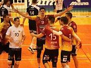 Zlínští volejbalisté prohráli v 19. kole české extraligy s favorizovanou Duklou Liberec 0:3 na sety a v tabulce zůstali devátí.
