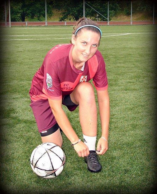 fotbalistka Vsetína Sabina Rýdlová