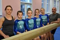 Sportovní gymnastiky Zlína jsou ve II. lize. Družstvo II.ligy, trenéři