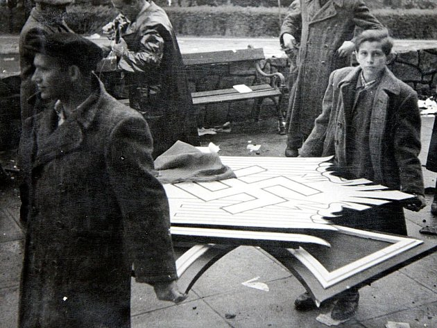 Začátek května 1945 ve Zlíně