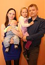 Vítání dětí městský úřad 28.4.2017. Monika a Tomáš Válovi s dcerou Julií a synem Filipem