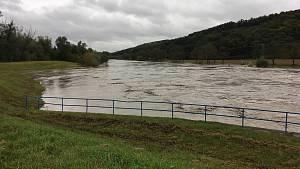 Povodňová situace na řekách na Zlínsku - 14. 10. 2020 odpoledne