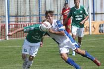 Fotbalisté Viktorie Otrokovice v zápase s Hlučínem. Ilustrační foto