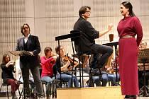 Zkouška filharmonie B. Martinů ve Zlíně. Koncertní provedení opery Carmen.