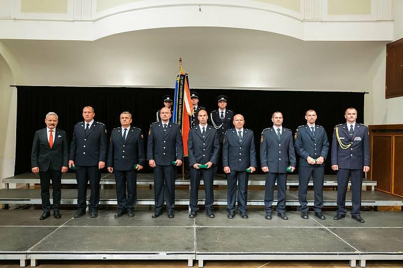 Profesionální hasiči ze Zlínského kraje převzali ocenění v uherskohradišťské Redutě