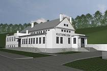 V obci Horní Lhota by mohli konečně mít opravené prostory pro pořádání akcí. Vizualizace.
