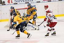 Zlínští hokejisté ve 3. kole extraligy podlehli Mountfieldu Hradec Králové 2:3.