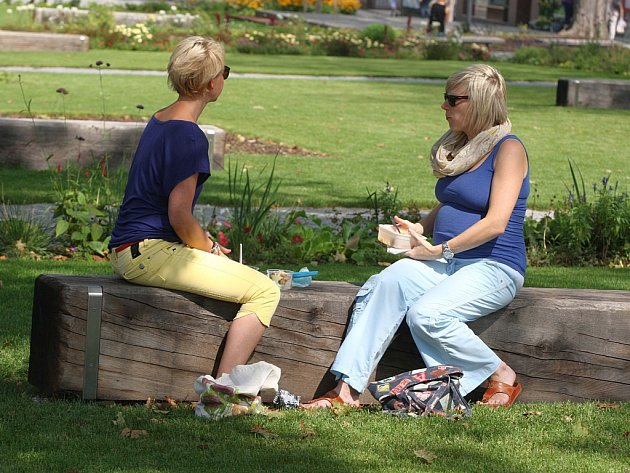 Odpočinek v parku J.A.Komenského ve Zlíně.