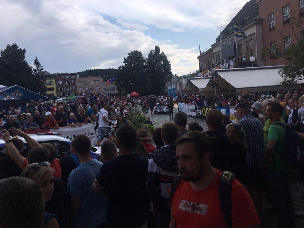 Start 49. ročník Barum Czech Rally.
