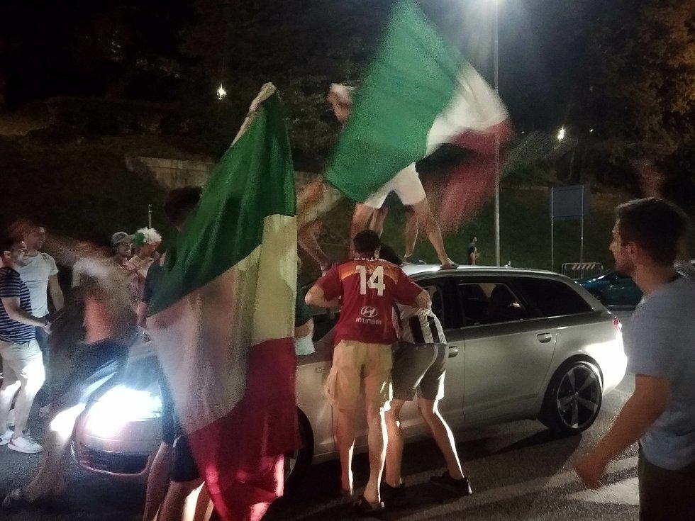 Jakub Kudláč sledoval finále fotbalového mistrovství Evropy v italském Udine.