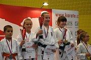 Zlínští karatisté získali na letošním mistrovství České republiky devětatřicet medailí a dvanáct titulů národních šampionů. Foto: Akademie karate Zlín, Luisa Prokopová