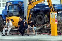 Rekonstrukce zastávky MHD Školní ve Zlíně.