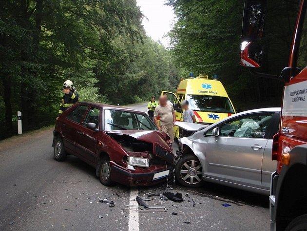 Nehoda mezi obcemi Luhačovice a Dolní Lhota