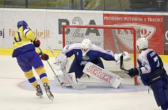 Extraligoví hokejisté Aukro Berani Zlín nastoupili ve svém třetím přípravném zápase proti úřadujícímu mistrovi Kometě Brno.