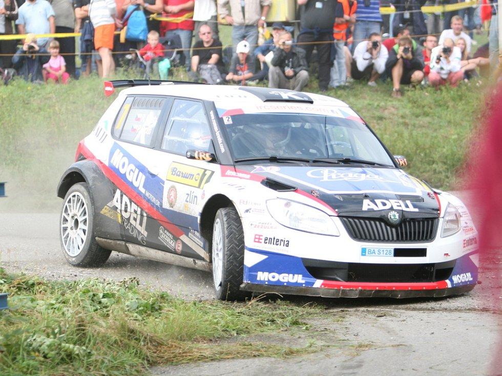 Barum rally: rychlostní zkouška ve Slušovicích