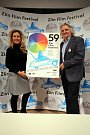 59. ZLÍN FILM FESTIVAL 2019 - Mezinárodní festival pro děti a mládežtisková konference Markéta Pášmová  (vlevo) Čestmír Vančura  prezident (vpravo)