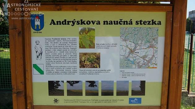 Andrýskova naučná stezka Fryšták.
