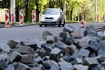 Oprava silnic ve Zlínském kraji. Ilustrační foto