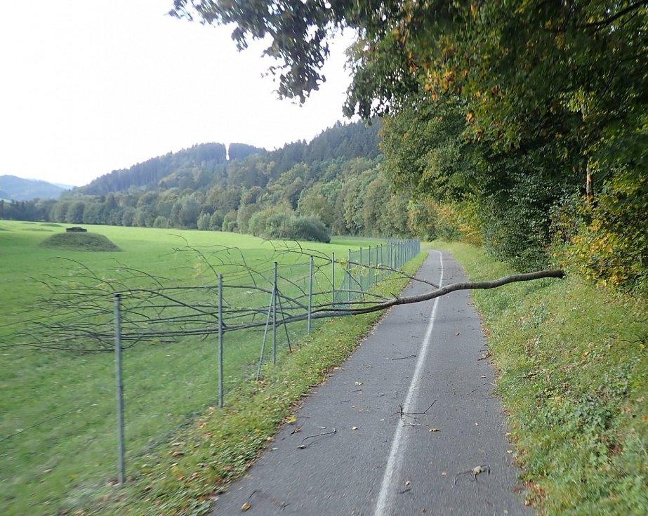 Silný vítr zasáhl Zlínský kraj