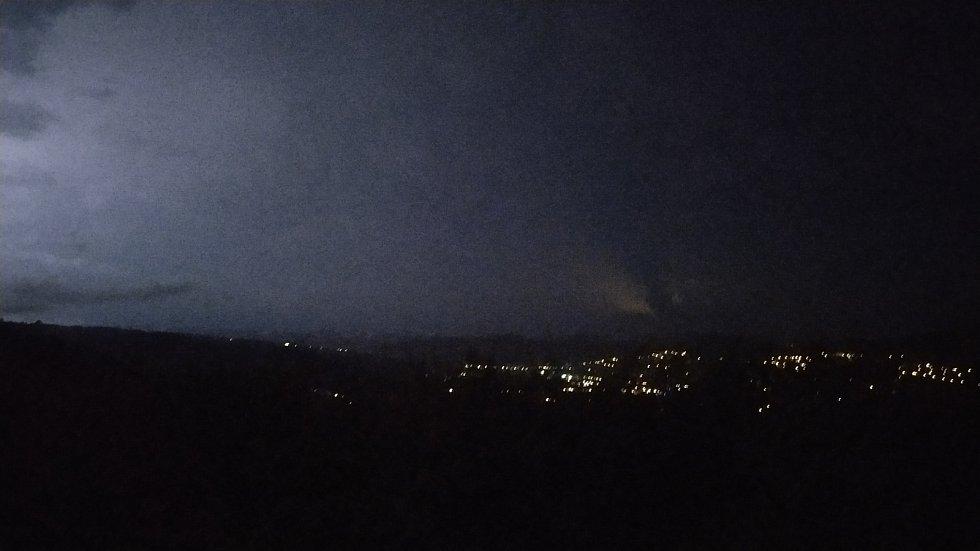 Bouřka nad Zlínem 24. 6. 2021