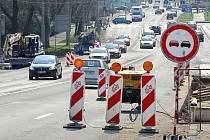 Rekonstrukce zastávek MHD v centru města Zlína.