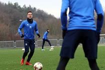 Zahájení přípravy fotbalistů FC FASTAV Zlín. Daniel Holzer.