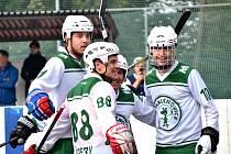 1. liga hokejbal, Hodonín - Malenovice 3:2 v prodloužení