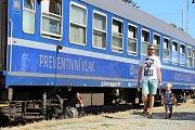 Preventivní vlak na nádraží ve Zlíně.
