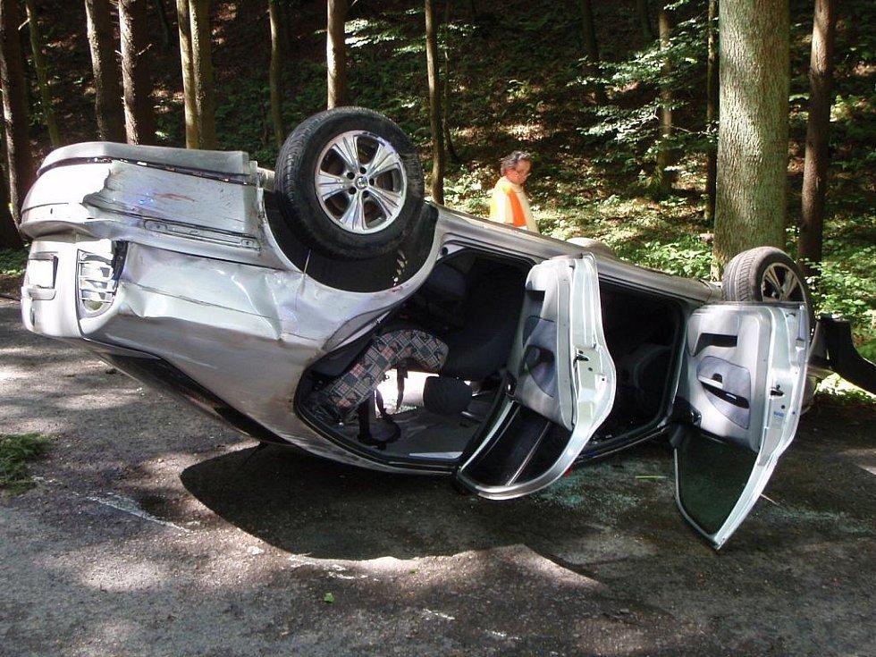 Dopravní nehody ve Zlínském kraji.