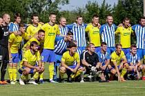 Fotbalisté Újezdce-Těšova v rámci oslav výročí sta let od založení tamního Sokola  vyzvali ligový Zlín.