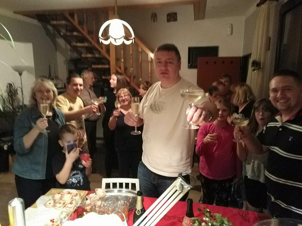 Silvestrovské oslavy na Zlínsku. Ilustrační foto