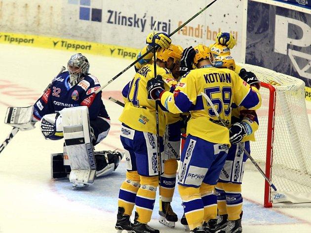 PSG Zlín – HC Vítkovice Ridera. Petr Holík 2:0