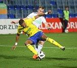 Fotbalisté Fastavu Zlín ve 14. kole FORTUNA LIGY v sobotu v podvečer porazili Karvinou. Na snímku Beauguel.