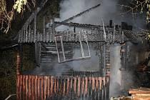 K požáru chaty došlo v Brumově-Bylnici.
