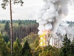 Výbuch muničního skladu ve Vrběticích.