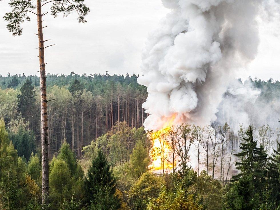 Říjen 2014. Výbuch muničního skladu ve Vrběticích.