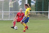Útočník Zlína Lukáš Železník (na snímku) stejně jako zbytek týmu brankáře Veselého nepřekonal.