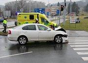 Nehoda na křižovatce. Ilustrační foto