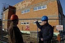 Nový polyfunkční objekt ve Fryštáku, který má po dlouhých letech poskytnout útočiště fryštáckému Sboru dobrovolných hasičů