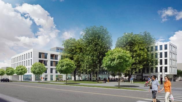 Vítězný návrh na proměnu zlínského náměstí Míru.