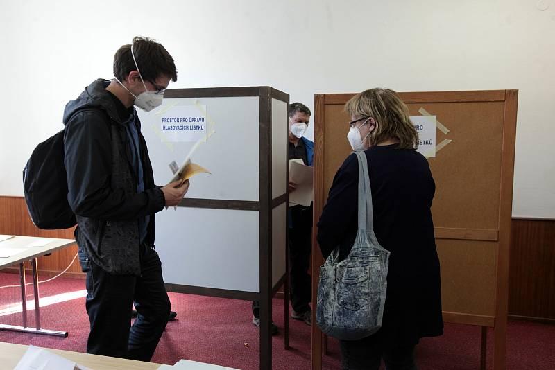 Volby do Poslanecké sněmovny Parlamentu ČR ve Zlíně. Volební okrsek 1. Kolektivní dům