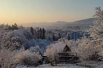 Ve Zlíně napadl sníh, 1. dubna 2020.