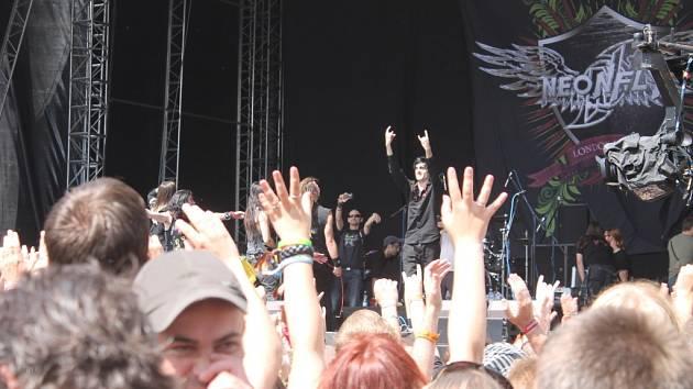 Bouřlivé ohlasy doprovázely koncert kapely Neofly na Masters of Rock.