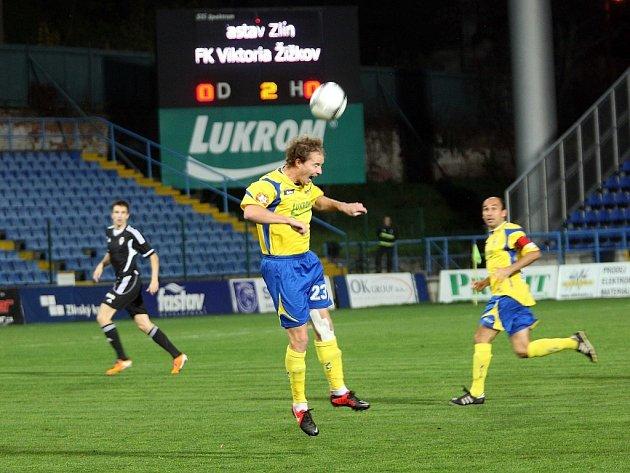 Ilustrační foto ze zápasu FASTAV Zlín - FK Viktoria Žižkov